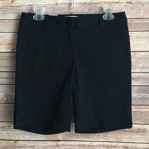 J Crew Bermuda Shorts Sz 0 Black NEW with tag